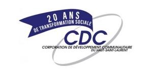 Logo de la Corporation de Développement Communautaire du Haut-Saint-Laurent, un partenaire du Pont du Suroît