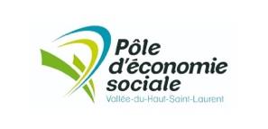 Logo du Pôle d'Économie Sociale de la Vallée du Haut-Saint-Laurent, un partenaire du Pont du Suroît